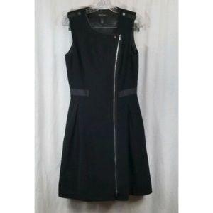 White House Black Market Full Exposed Zipper Dress